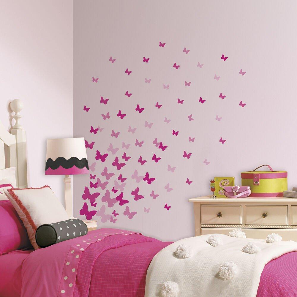 Wall Decor for Girls Bedroom New 75 New Pink Flutter butterflies Wall Decals Girls butterfly Stickers Room Decor
