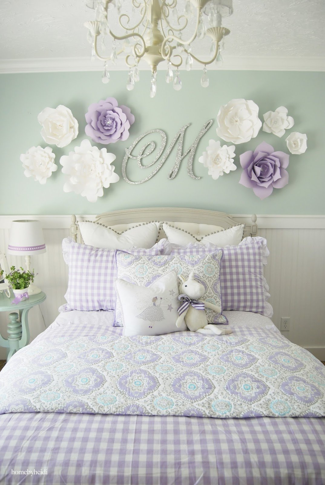 Wall Decor for Girls Room Fresh Home by Heidi Purple & Turquoise Little Girls Room
