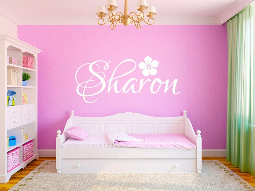 Wall Decor for Girls Room Fresh Personalized Custom Any Name Wall Stickers for Kids Rooms Nursery Decor Modern Flower Girl Name