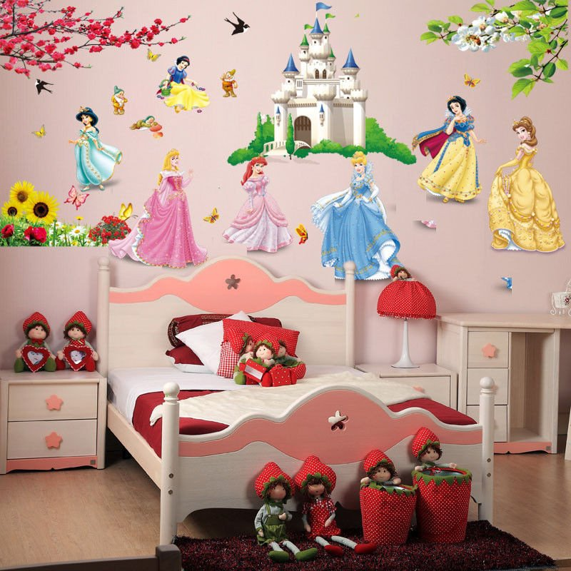Wall Decor for Girls Room Lovely Fairy Tale Princess Castle Disney Kids Room Girls Room Decal Wall Sticker Decor