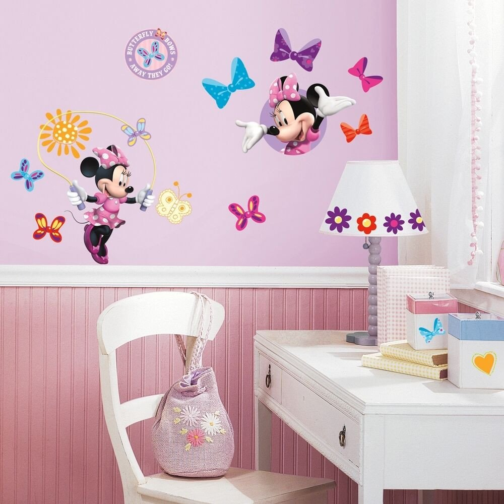 Wall Decor for Girls Room Luxury 33 New Minnie Mouse Bow Tique Wall Decals Disney Stickers Girls Pink Room Decor