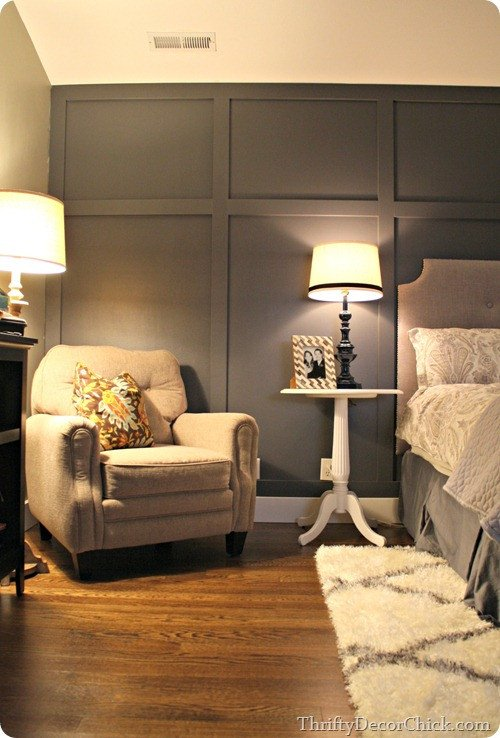 Wall Decor for Grey Walls Luxury Dark Gray Accent Wall From Thrifty Decor Chick