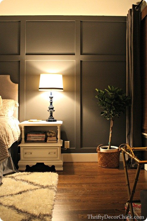 Wall Decor for Grey Walls Unique Dark Gray Accent Wall From Thrifty Decor Chick