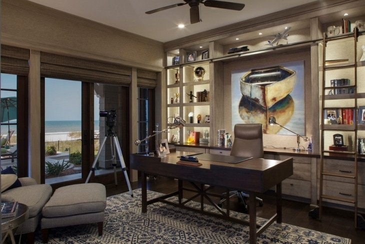 Wall Decor for Home Office Fresh 20 Coastal Home Fice Designs Decorating Ideas