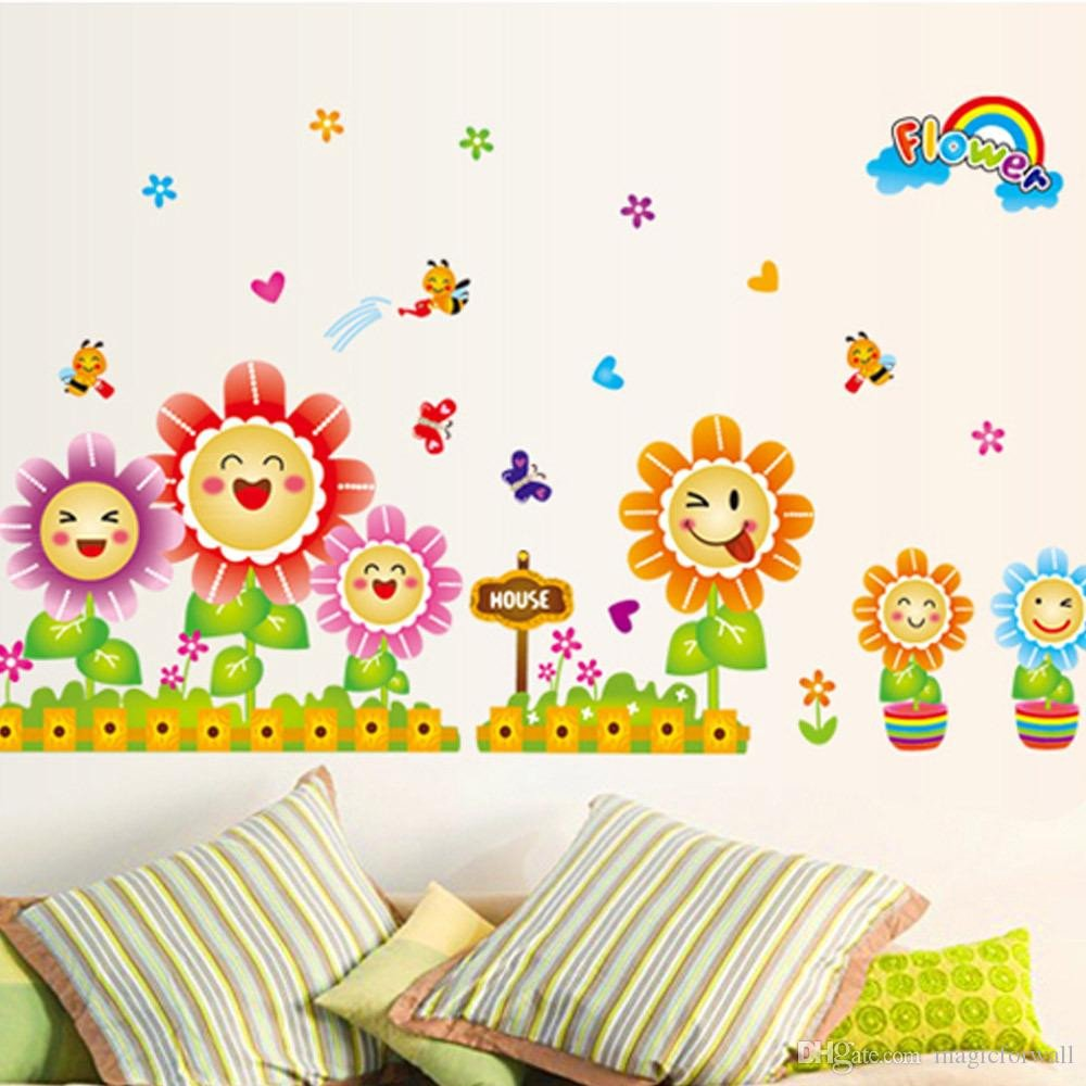 Wall Decor for Kids Room New Cute Spring Wall Decor Stickers for Kids Room & Nursery Decoration butterflies&bees Around