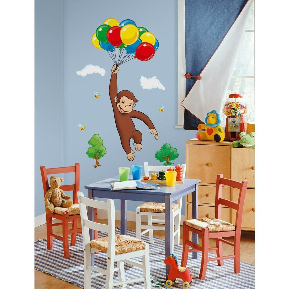 Wall Decor for Kids Room Unique Curious George Giant Wall Decals New Kids Room Stickers Decorations Monkey Decor