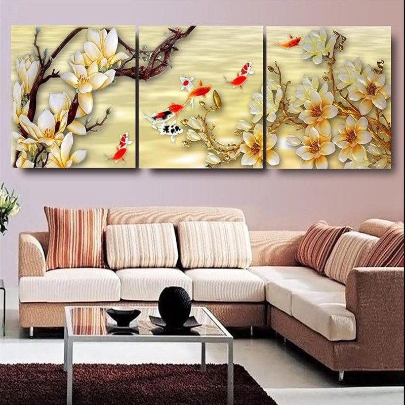 Wall Decor for Living Room Inspirational Canvas White Magnolia Wall Art Canvas Paintings Living Room Wall Decor Picture Canvas