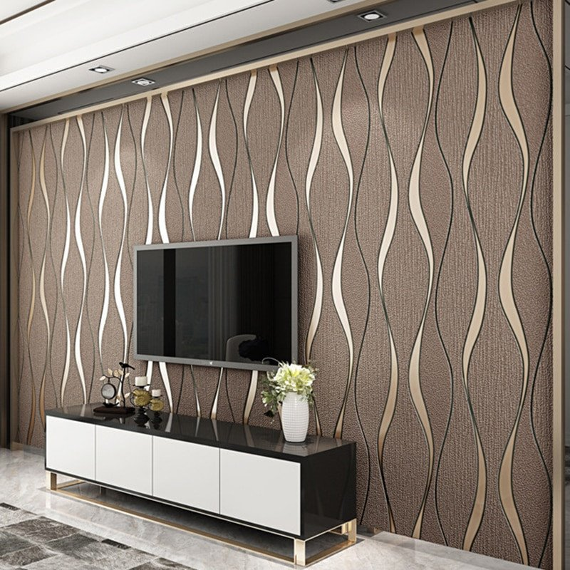 Wall Decor for Living Room Luxury 3d Striped Wallpaper for Walls Roll Living Room Tv Background Wall Decoration Paper Wall Papers