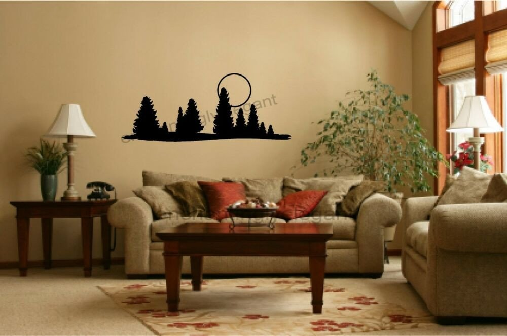 Wall Decor for Living Room New Trees Moon Vinyl Decal Wall Stickers Fice Living Room Decor Camper Rv Mural