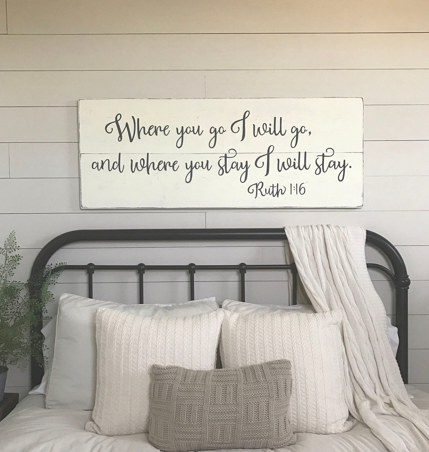 Wall Decor for Master Bedroom Inspirational Bedroom Wall Decor where You Go I Will Go Wood Signs