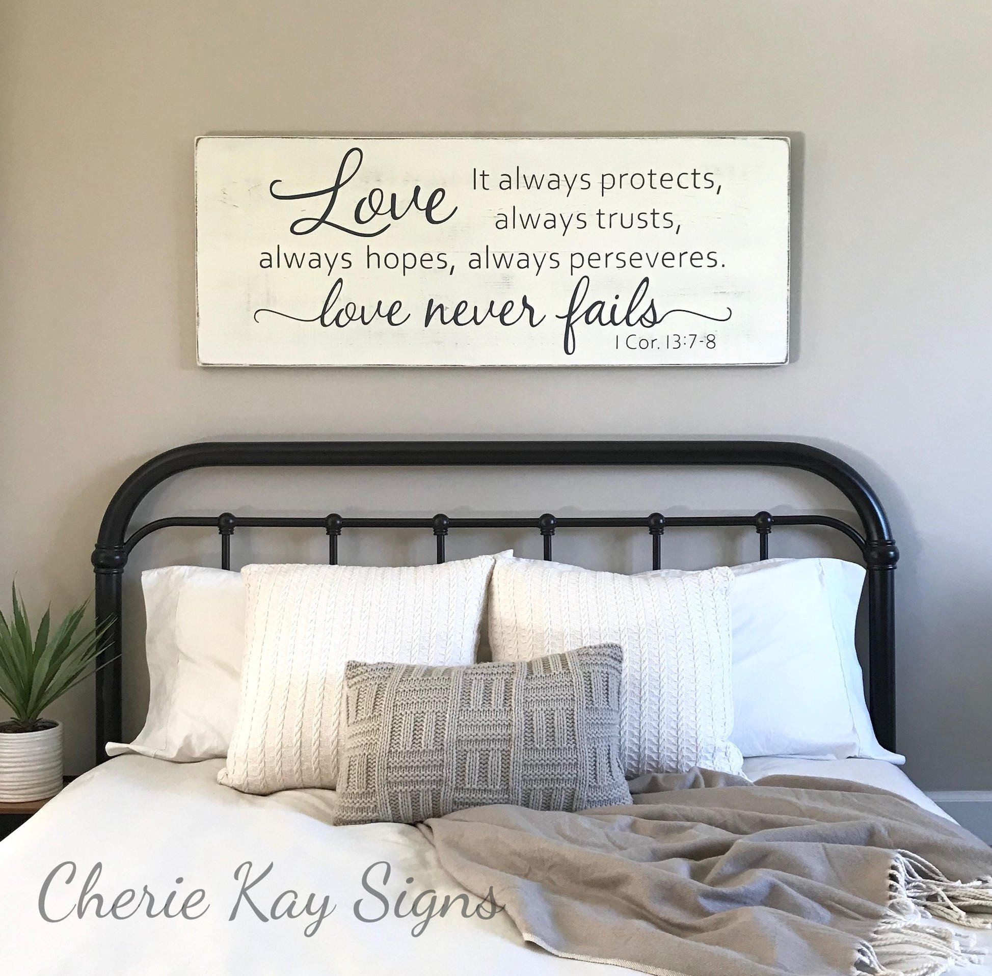 Wall Decor for Master Bedroom Inspirational Master Bedroom Wall Decor Love Never Fails 1 Corinthians