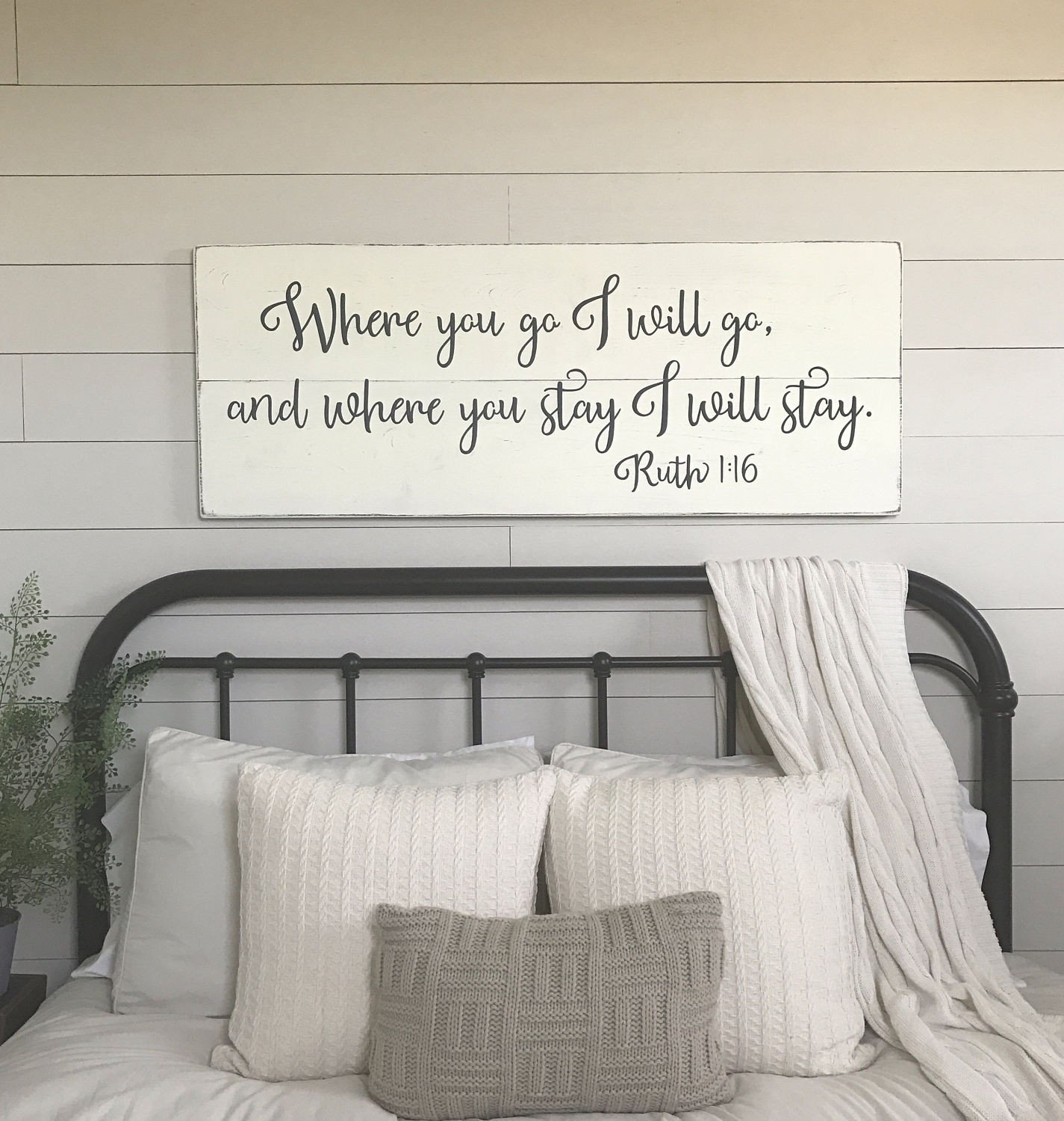Wall Decor for Master Bedrooms Beautiful Bedroom Wall Decor where You Go I Will Go Wood Signs
