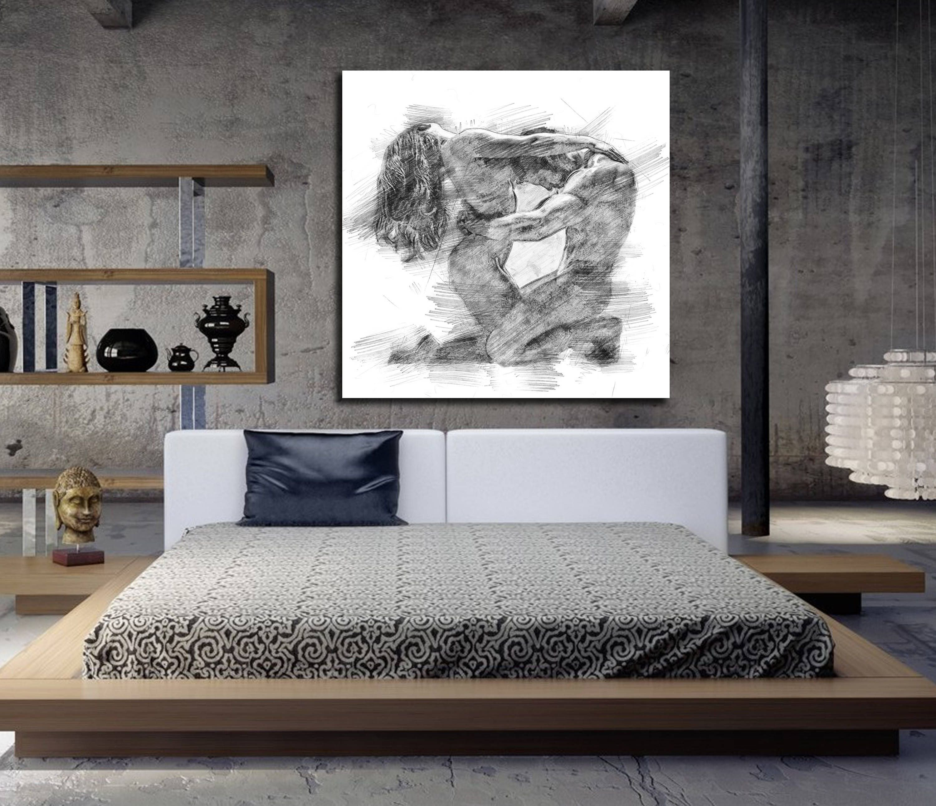 Wall Decor for Master Bedrooms Best Of Canvas Art His & Hers Bedroom Wall Art Abstract Art Print Pencil Sketch Erotic Master Bedroom