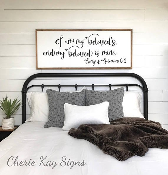 Wall Decor for Master Bedrooms New Master Bedroom Sign I Am My Beloveds Bedroom Wall Decor