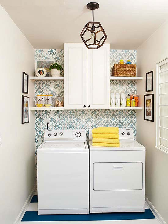 Wall Decor for Small Spaces Fresh 25 Small Laundry Room Ideas