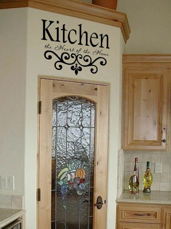 Wall Decor Ideas for Kitchen Beautiful Kitchen Wall Quote Vinyl Decal Lettering Decor Sticky