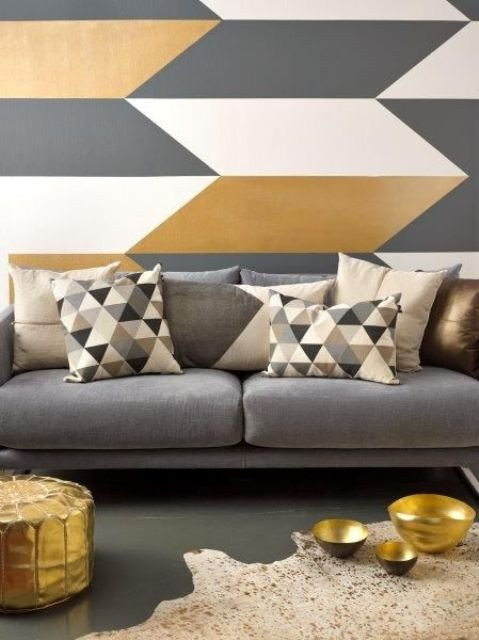 Wall Decor Ideas In Your Living Room Best Of 32 Stylish Geometric Décor Ideas for Your Living Room Digsdigs