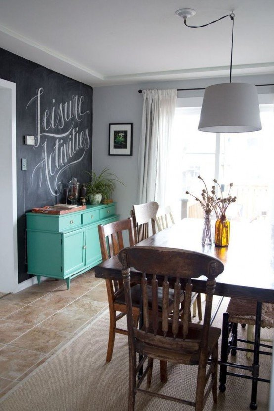 Wall Decor Ideas In Your Living Room Inspirational 31 Chalkboard Dining Room Décor Ideas You'll Love Digsdigs