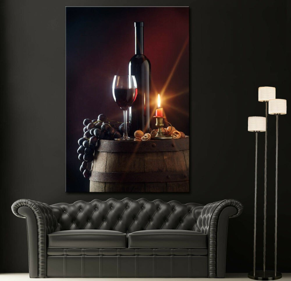 Wall Pictures for Home Decor Beautiful Canvas Print Red Wine Still Life Home Wall Art Prints Picture Colorful Decor 2