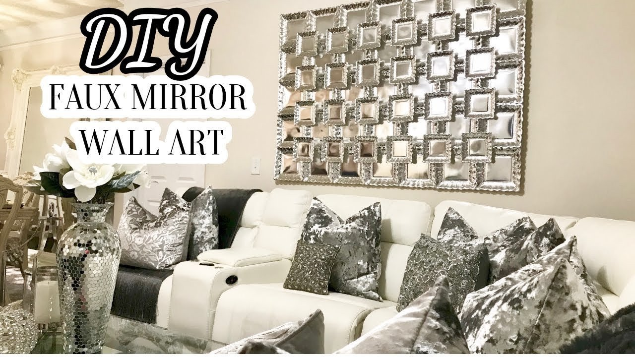 Wall Pictures for Home Decor Beautiful Diy Faux Mirror Wall Art