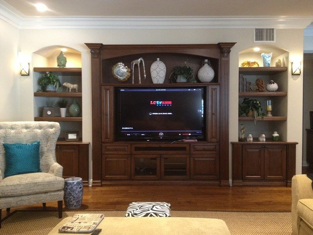 Wall Units Traditional Living Room Elegant Entertainment Centers and Wall Units