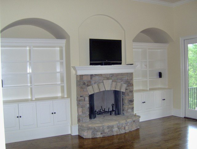 Wall Units Traditional Living Room Luxury Custom Built Wall Units