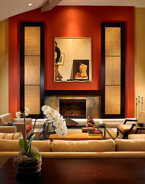 Warm Comfortable Living Room Beautiful asian Influence with A Warm fortable Feel asian Living Room Other by Shuster Design