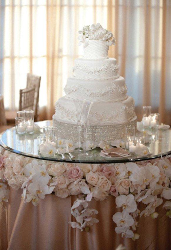 Wedding Cake Table Decor Ideas New Stylish Wedding Cake Table Decorations