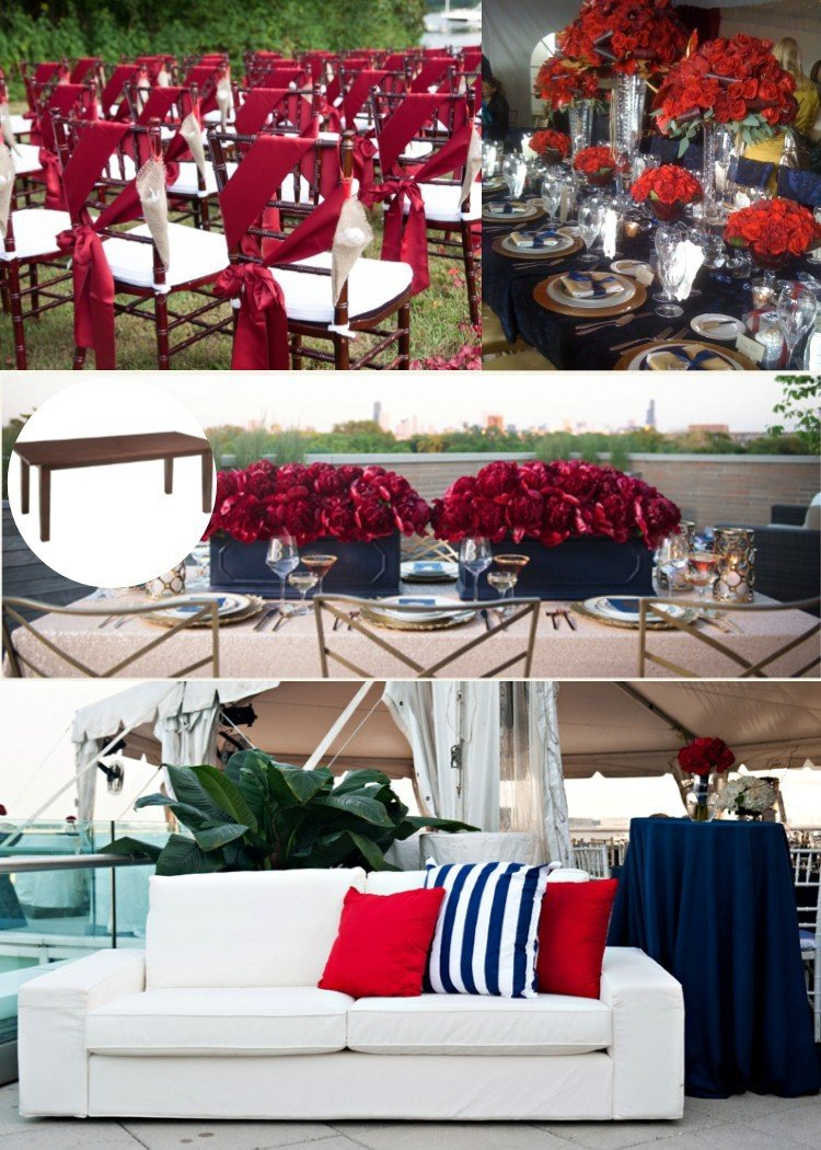 Wedding Decor Red and White Awesome Red White & Blue Wedding Style Jetmag