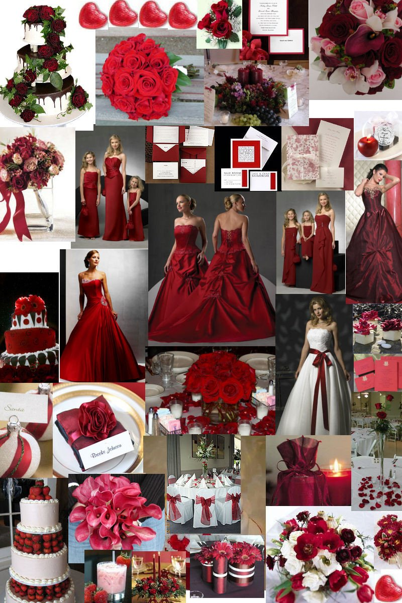 Wedding Decor Red and White Awesome Winter Wedding theme – Burgundy