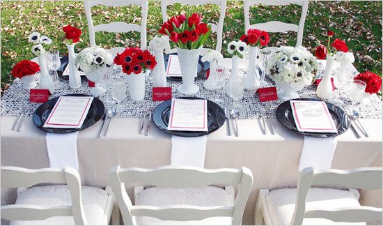 Wedding Decor Red and White Inspirational Black White and Red Wedding