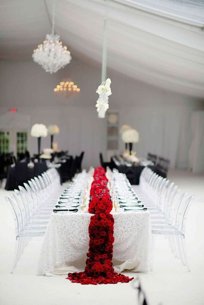 Wedding Decor Red and White Inspirational Reception Décor S Black White & Red Wedding Table Inside Weddings
