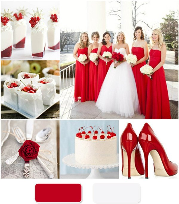Wedding Decor Red and White Inspirational the Red Wedding Color Bination Ideas
