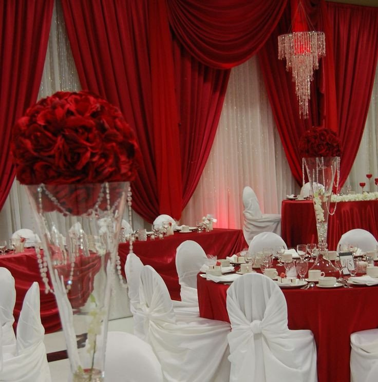 Wedding Decor Red and White Unique Red and White Backdrop and Decor Wedding Venues