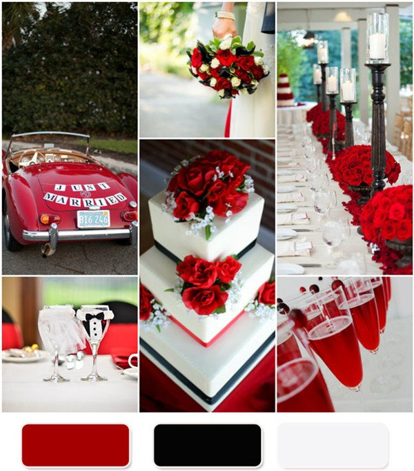 Wedding Decor Red and White Unique the Red Wedding Color Bination Ideas
