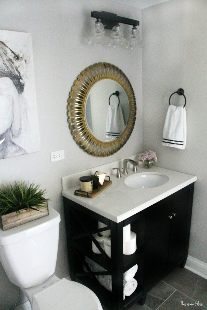 White and Gold Bathroom Decor Awesome How to Create A Neutral Glam Bathroom