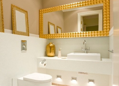 White and Gold Bathroom Decor Awesome Master Bathroom Ideas