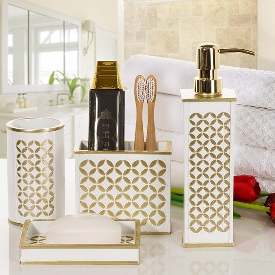White and Gold Bathroom Decor Beautiful 20 Best Amazon S White and Gold Bathroom Accessories to Buy