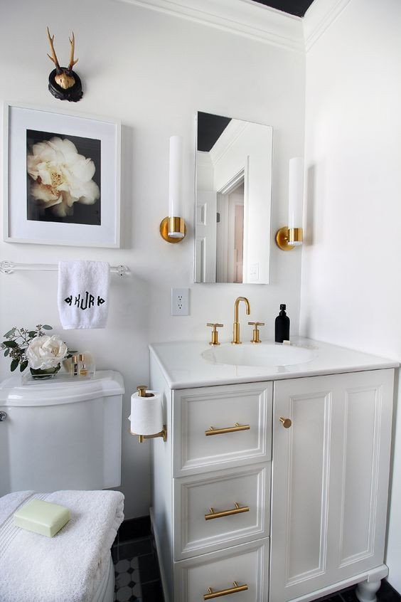 White and Gold Bathroom Decor Beautiful Small Bathroom Remodeling Guide 30 Pics Decoholic