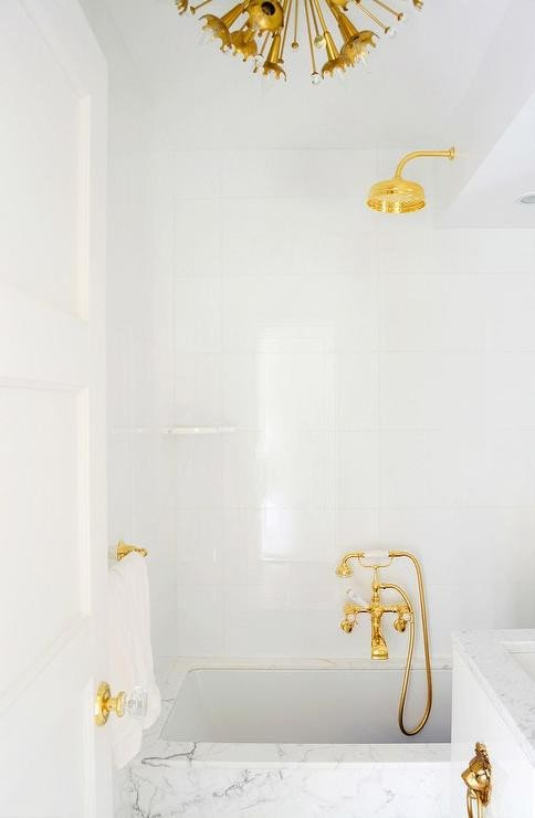White and Gold Bathroom Decor Best Of White and Gold Bathrooms Contemporary Bathroom