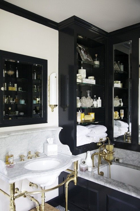 White and Gold Bathroom Decor Elegant Black and Gold Bathroom Eclectic Bathroom Matchbook Magazine