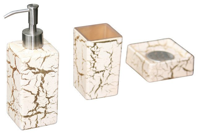 White and Gold Bathroom Decor Inspirational Kalahari Luxury Bathroom Set White Gold Contemporary Bathroom Accessories Other Metro