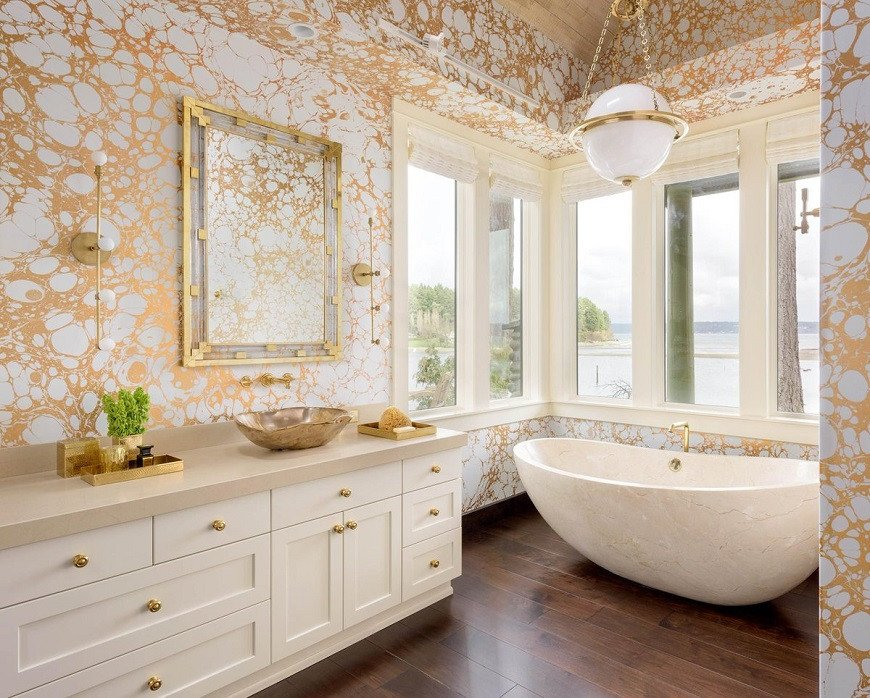 White and Gold Bathroom Decor New How to Get A Gold and White Luxury Bathroom Interior Design