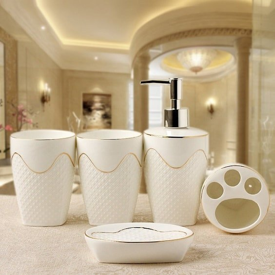 White and Gold Bathroom Decor Unique 20 Best Amazon S White and Gold Bathroom Accessories to Buy