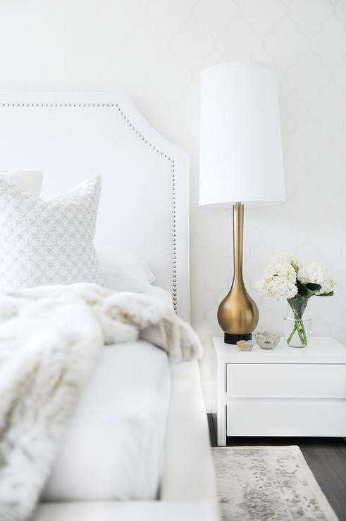 White and Gold Bedroom Decor Beautiful White Bedroom with Gold Accents Transitional Bedroom