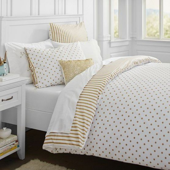 White and Gold Bedroom Decor Lovely High Quality Fun Home Decor 4 White and Gold Bedding