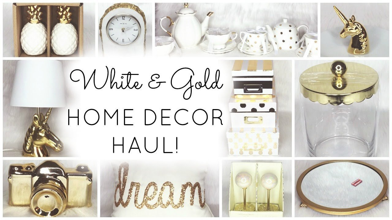 White and Gold Home Decor Inspirational White & Gold Home Decor Haul ♡ Homegoods Tar World Market Kirklands Tj Maxx & Marshalls