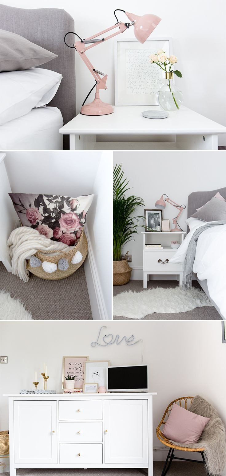 White and Gold Room Decor Awesome Grey White & Blush Bedroom