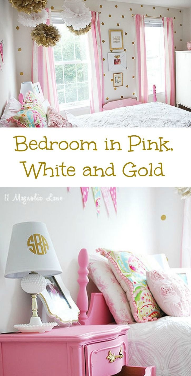White and Gold Room Decor Fresh Girl S Room In Pink White Gold Decor Diy