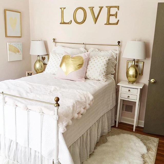 White and Gold Room Decor Fresh We Love This Gold and White themed Bedroom Designed by Cheersyall Elise